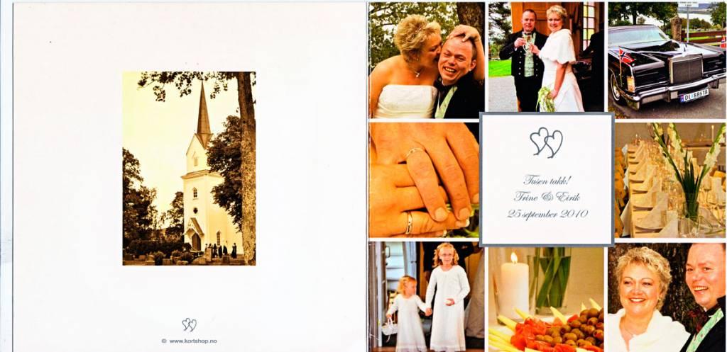 Tusen takk! Trine og Erik 25 september 2010