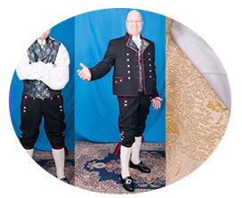 Mannsbunad fra Østfold levert til konkurransedyktig pris, kvalitet og til avtalt tid.