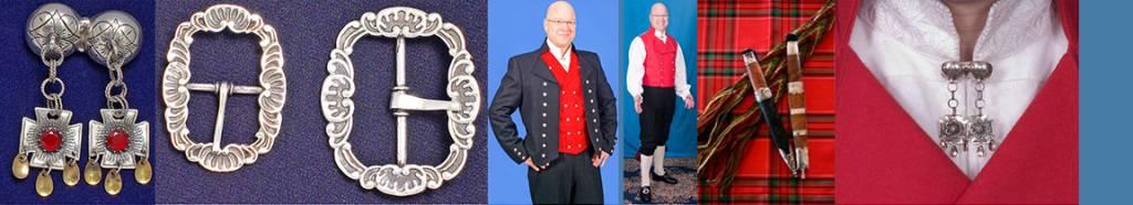 Mannsbunad fra Vestfold med sort jakke og rød vest