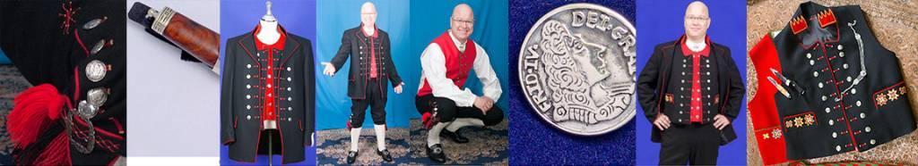 Fanabunad er inspirert av offiserenes uniformen på Dansk Norske Orlogsfartøy under 1700 tallet
