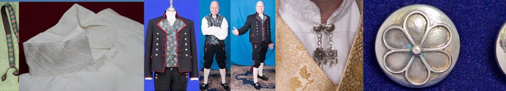 Mannsbunad fra Rogaland med silkebrokadevest