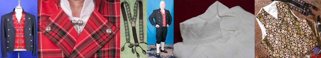Tartan kiltmønster fra skotske familieklaner brukes i Gudbrandsdalbunaden